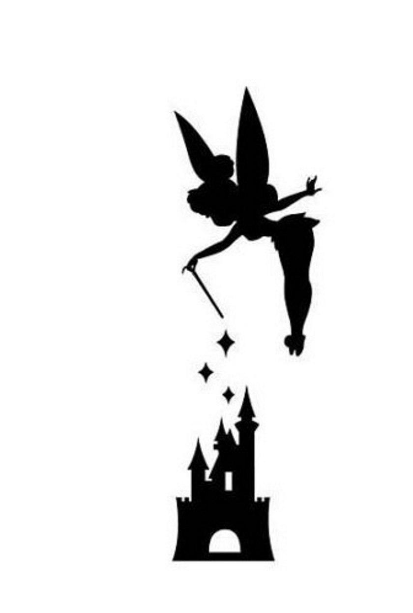 840x1245 Disney Peter Pan Tink Tinkerbell Castle