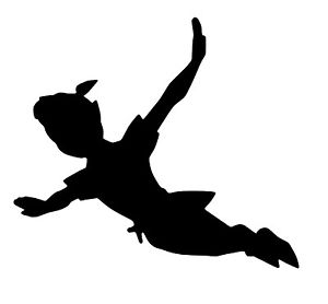 peter pan and wendy flying silhouette at getdrawings com free for rh getdrawings com