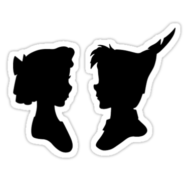375x360 Peter Pan And Wendy Stickers By Avery James Redbubble