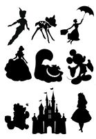 139x200 Peter Pan Wendy London Skyline Silhouette Edible Icing Decor For