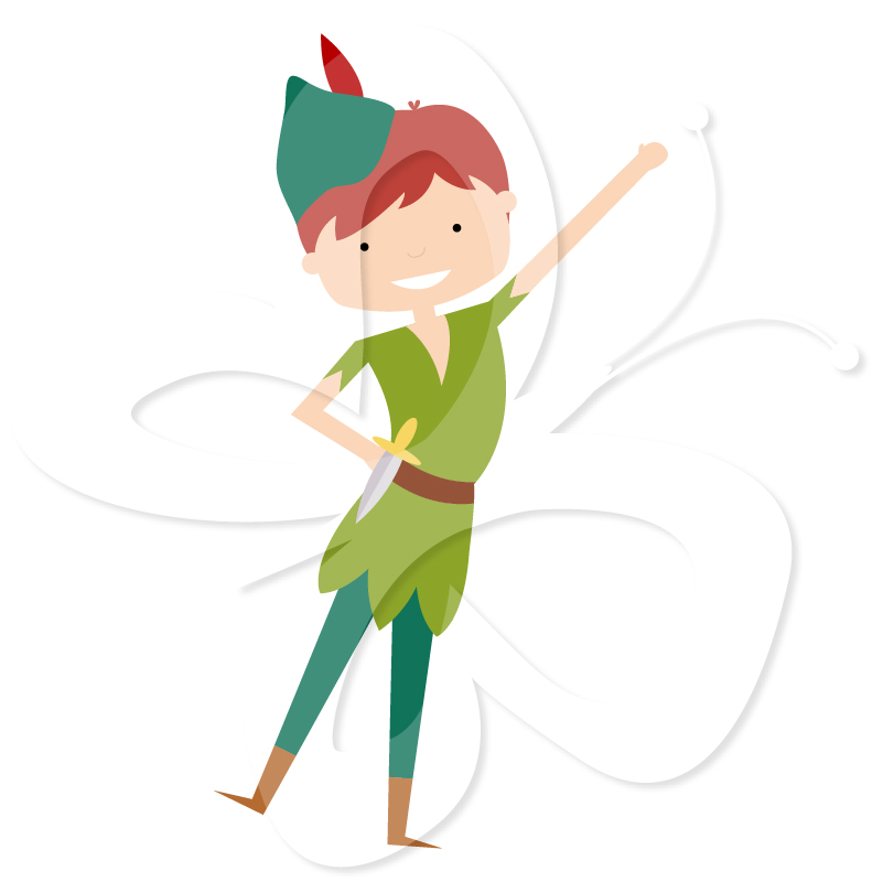 801x800 Peter Pan, Wendy And Captain Clipart Panda