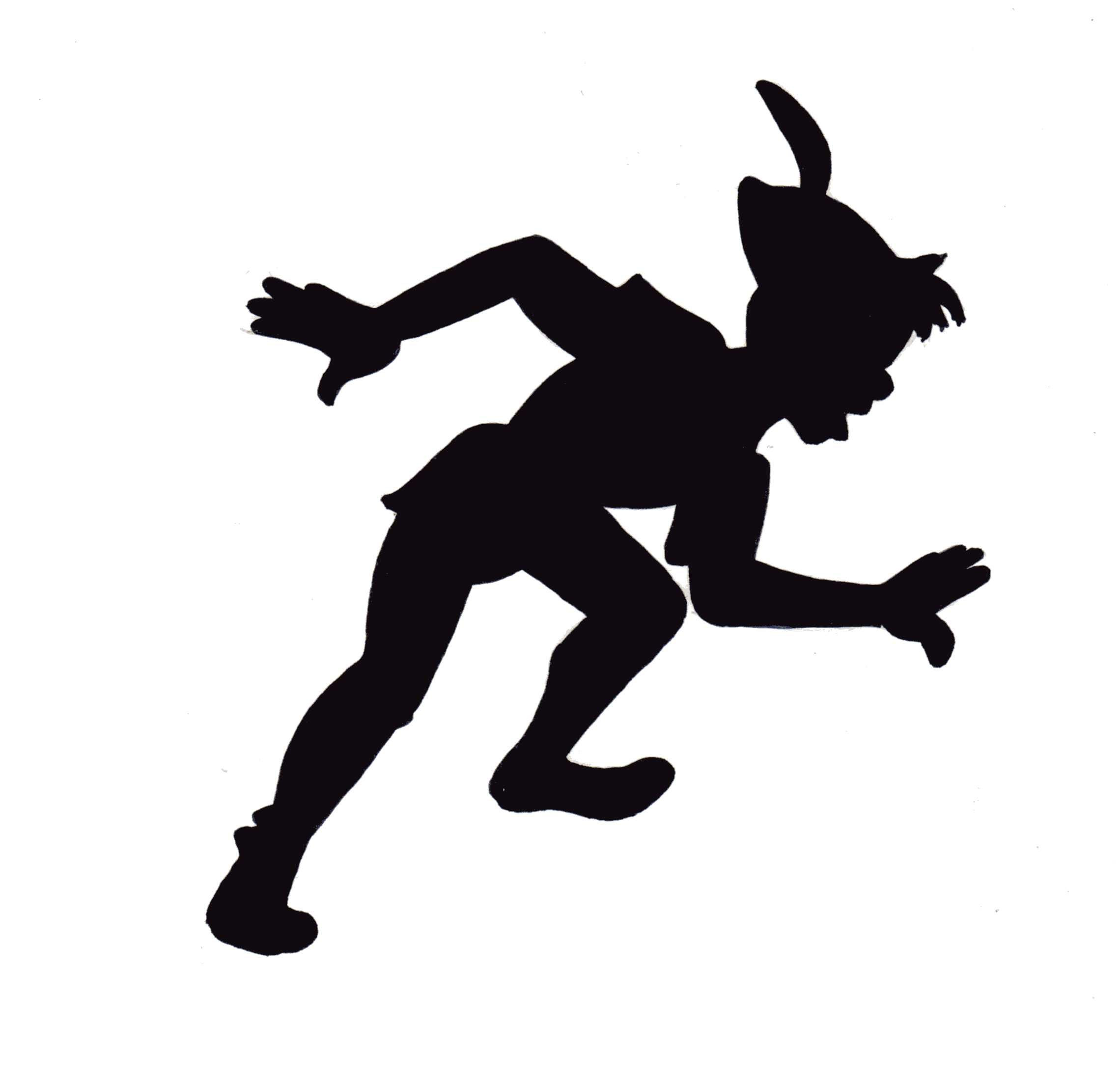 2280x2188 Peter Pan Flying Beautiful Wall Decals Fancy Silhouette Fiscalreform