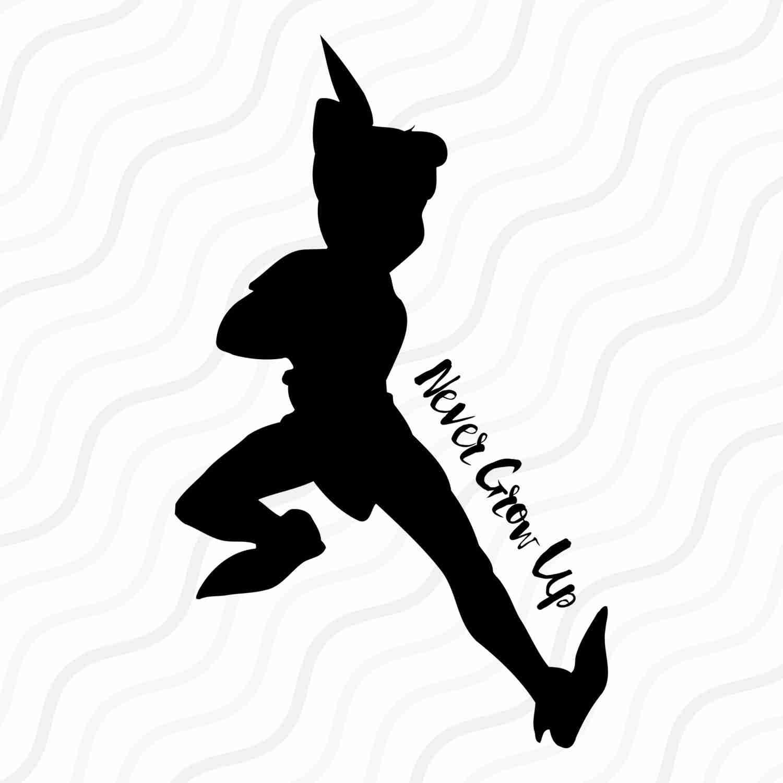 1500x1500 Peter Pan Silhouette Digital Clipart 22 Png Jpg Instant