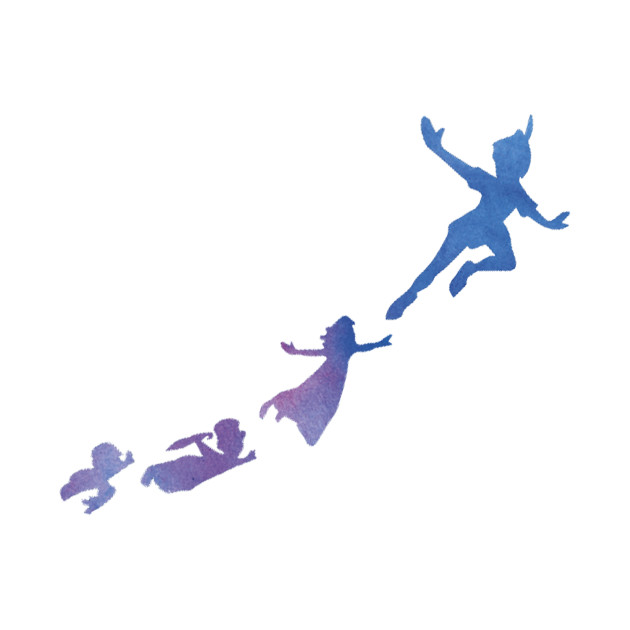 630x630 Adorable Peter Pan Silhouette Flying 12 25x15 Vinyl Decal Wall Art