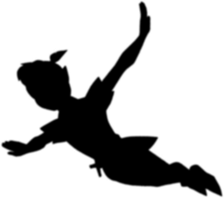 1500x1321 Peter Pan Silhouette Art Peter Pan Silhouette