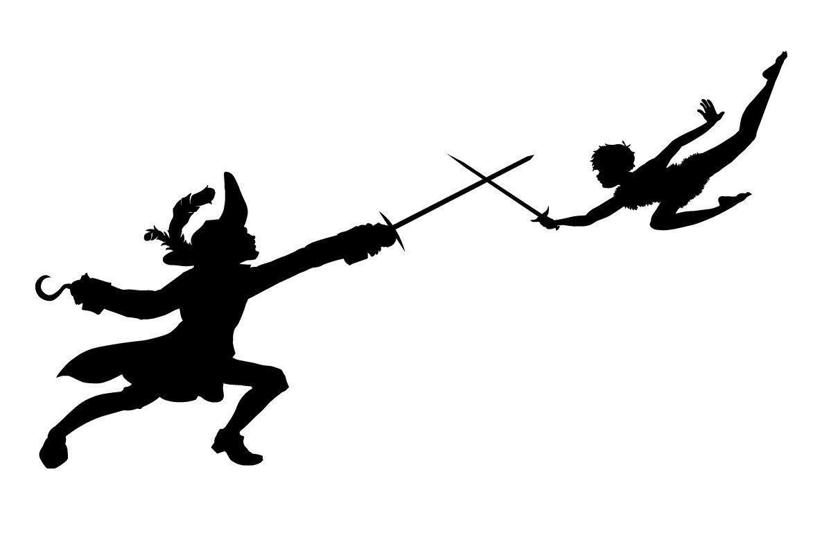 1173x782 Svg Captain Hook And Peter Pan Disney Cut File Brilliant Flying