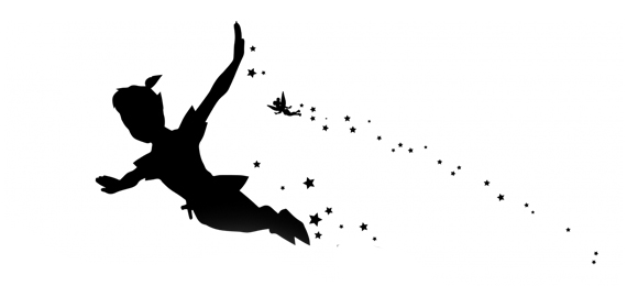 Peter Pan Flying Silhouette At Getdrawings Com Free For