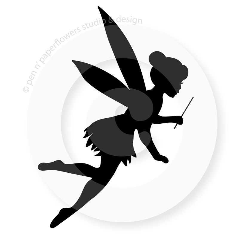 Peter Pan Flying Silhouette Tattoo