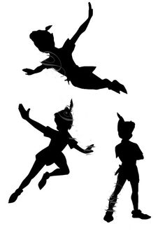 Peter Pan Flying Silhouette Tattoo at GetDrawings.com | Free for ...