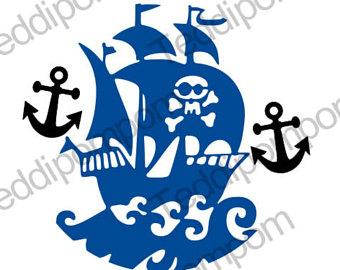 340x270 Pirate Ship Stencil Etsy