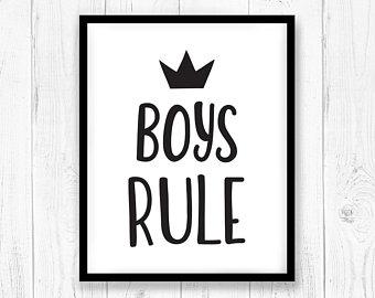 340x270 Boys Rule Svg Etsy