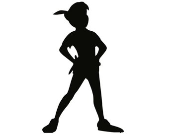 340x270 Peter Pan Silhouette Sticker Etsy