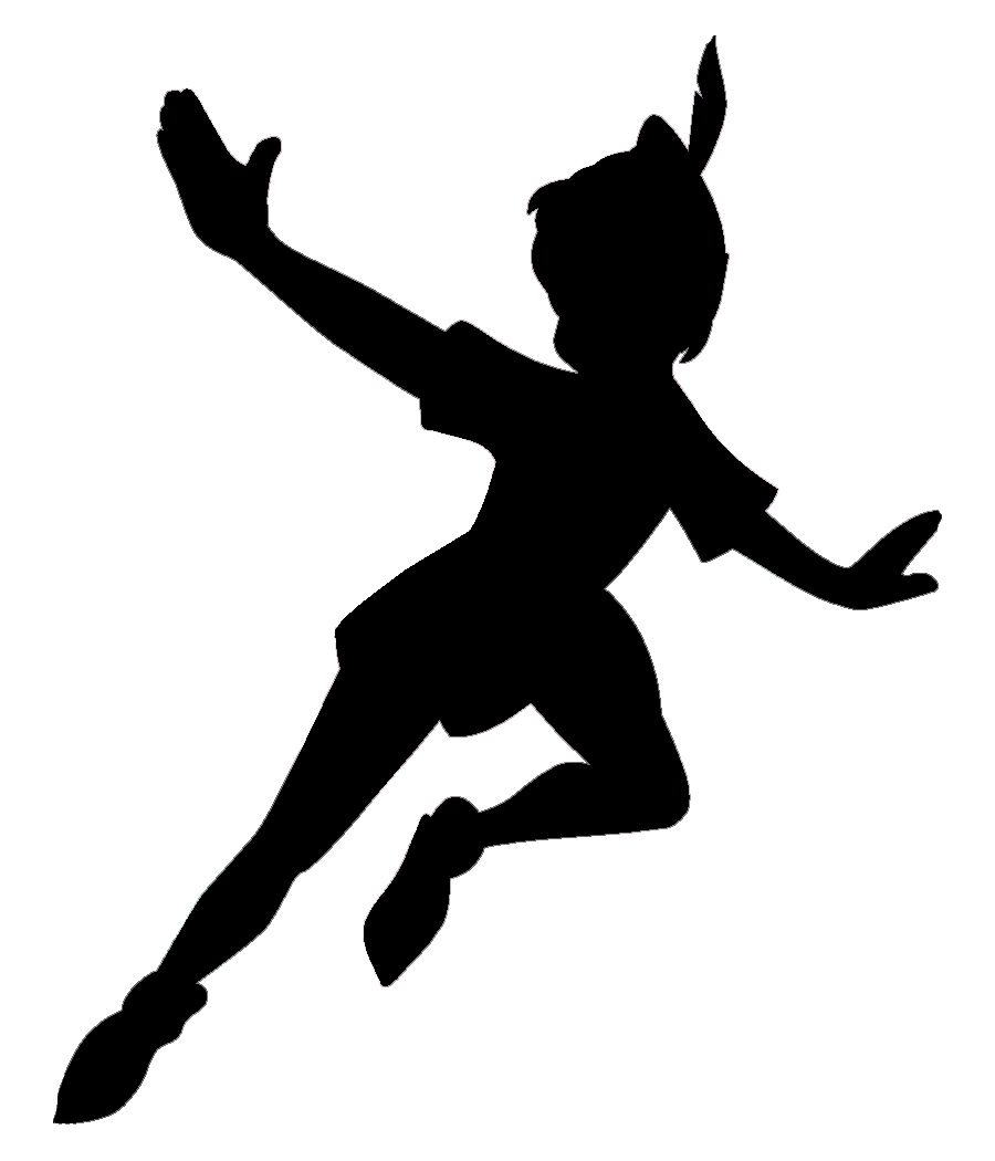 900x1050 Peter Pan Silhouette Peter Pan And Tinkerbell Baby Shower
