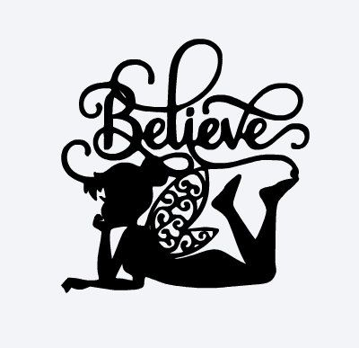 400x387 Svg, Disney, Tinkerbell, Tinkerbell Silhouette, Believe, Peter Pan