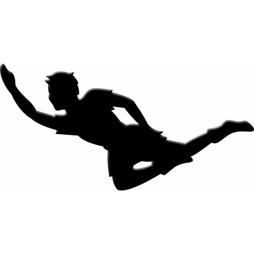 500x500 Peter Pan Flying Clipart
