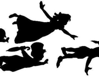 picture relating to Disney Silhouette Printable named Peter Pan Silhouette Printable at  Cost-free for
