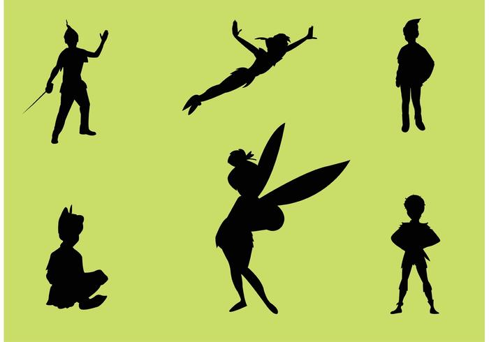 700x490 Peter Pan Vector Silhouettes