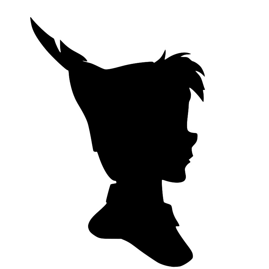 864x864 Peter Pan And Wendy Silhouette Svg Cricut, Scanncut, Silhouette