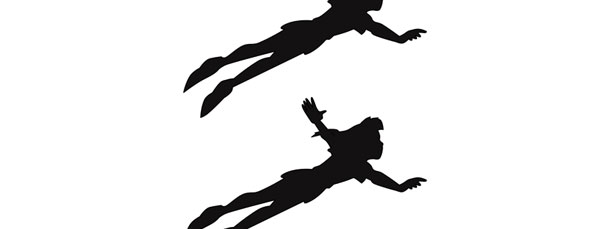 610x229 Peter Pan Flying Silhouette Cut Out Medium
