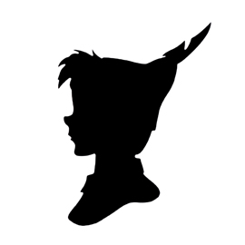 270x270 Peter Pan Silhouette 02 Stencil Free Stencil Gallery