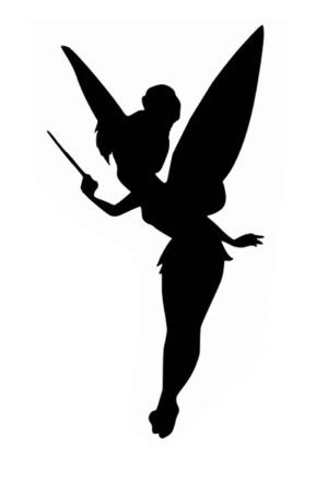 300x439 Peter Pan Silhouette Peter Pan And Tinkerbell Baby Shower