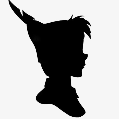 500x500 Black Peter Pan Head Portrait, Peter Pan, Peter, Pan Png Image