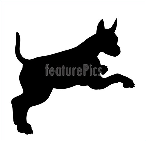 500x483 Pets Puppy Dog Silhouette