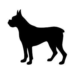 263x262 Boxer Dog Silhouette Pets Dog Silhouette