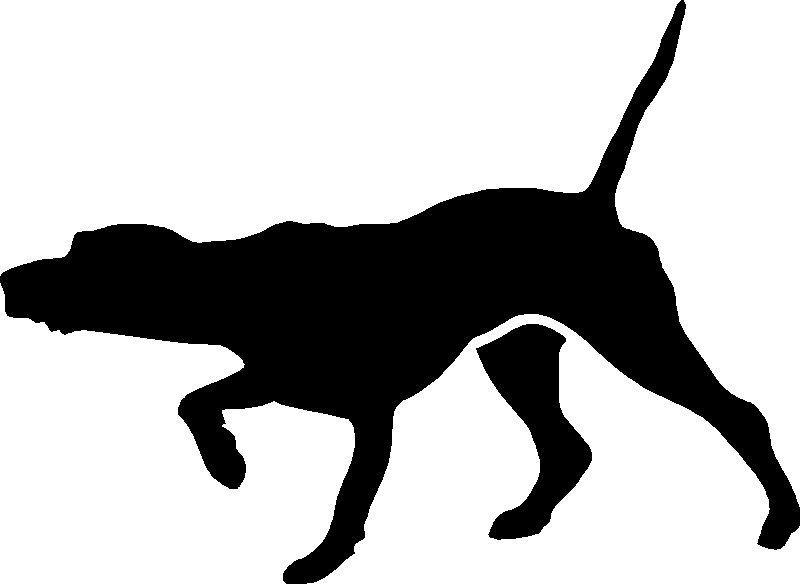 800x584 Pointer Hunting Black Dog Stickerdecalgraphic