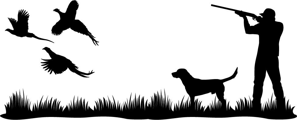 977x396 The Pheasant Heaven Lab Upland Bird Wall Decal Will Look Great