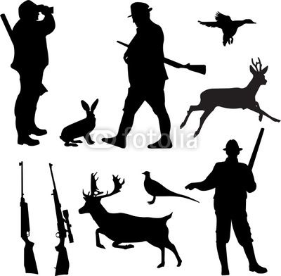 400x392 Hunting Silhouettes Vector Hunting Collection Silhouettes