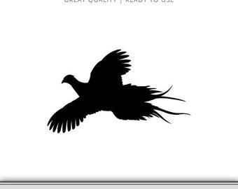 340x270 Pheasant Silhouette Etsy