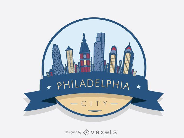 760x570 Philadelphia Skyline Logo Badge Skylines