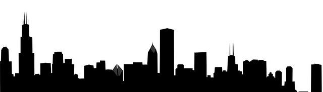 640x183 Philadelphia Skyline Outline Clipart