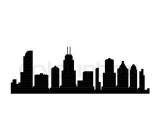 320x280 Fort Worth Texas City Skyline Silhouette. Vector Illustration