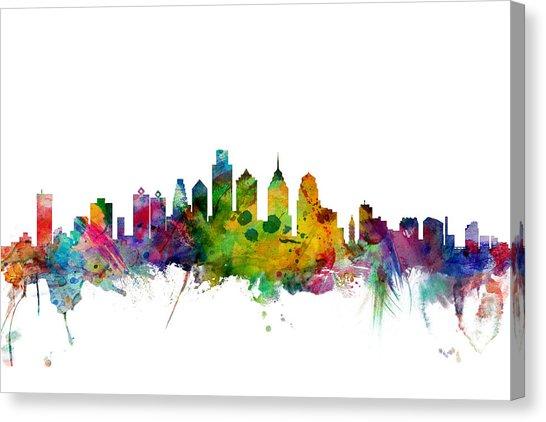 546x422 Philadelphia Skyline Canvas Prints Fine Art America