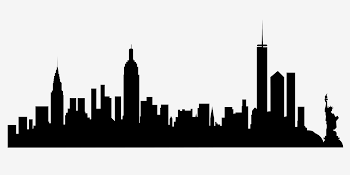 350x175 Philadelphia Skyline Free Svg Vector
