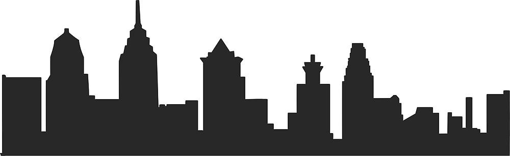 1000x307 Philadelphia Pa Philly Skyline By Michellegriff90 Redbubble