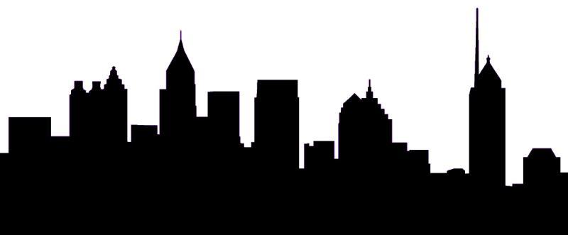 800x331 Philadelphia Skyline Clip Art