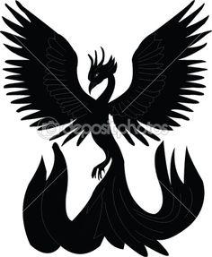 236x287 Phoenix Symbol Stencil Phoenix, Symbols And Tatting
