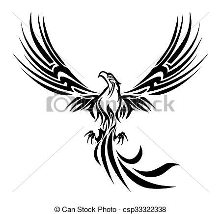 450x436 Phoenix Tattoo. Illustrations Of A Concept Myth Bird Phoenix