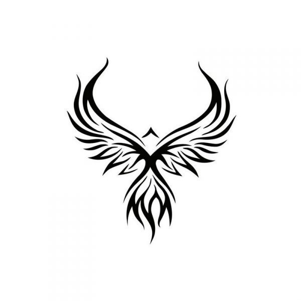 600x600 Pochoir Phoenix Tattoo Tattoo, Phoenix And Tatoo