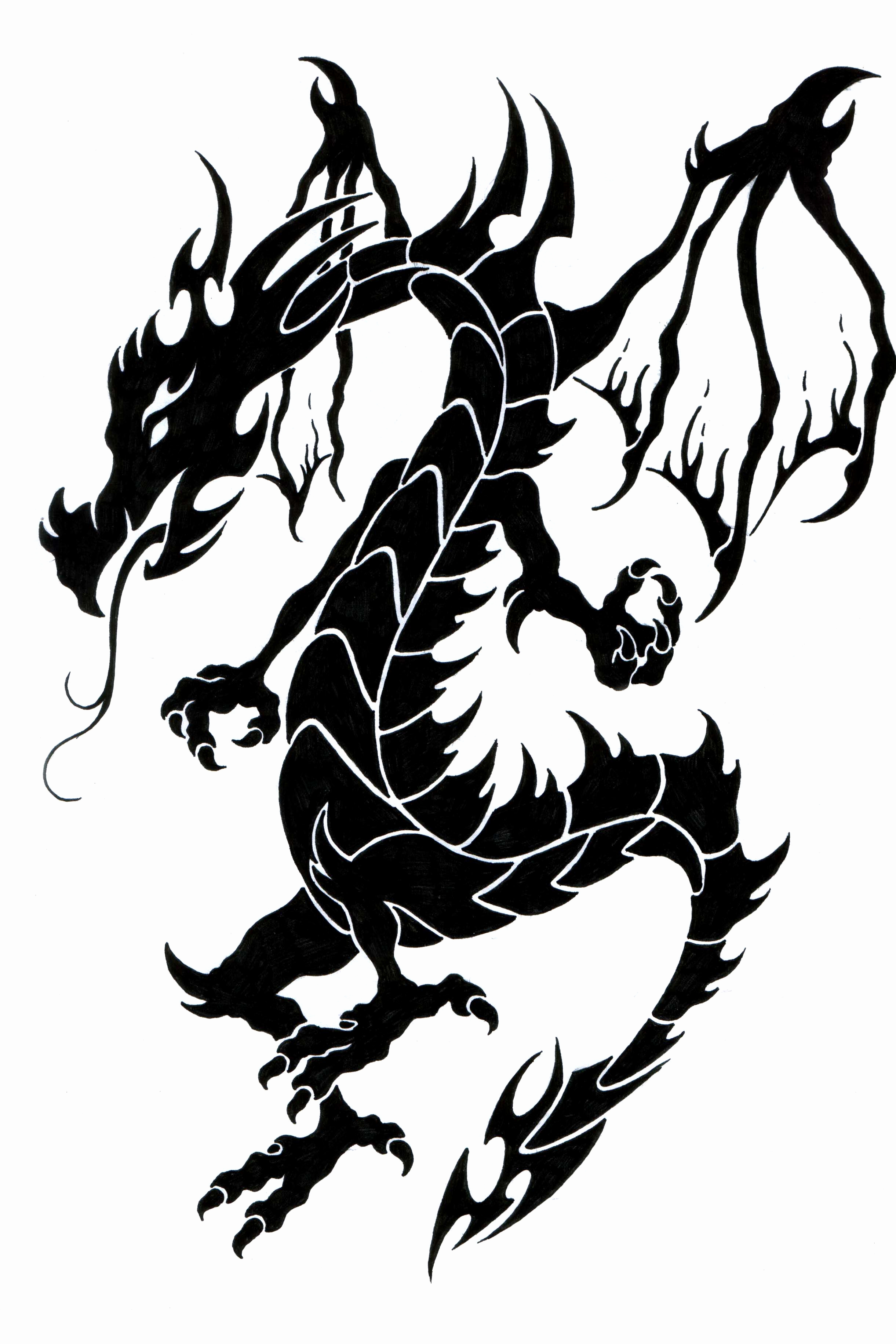 2442x3663 Silhouette Dragon Tattoos Best Of Phoenix Dragon Heart By Naruto