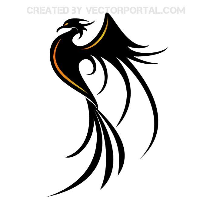 660x660 Phoenix Bird Vector Clip Art