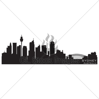 325x325 Phoenix, Arizona Skyline. Detailed Vector Silhouette Gl Stock Images