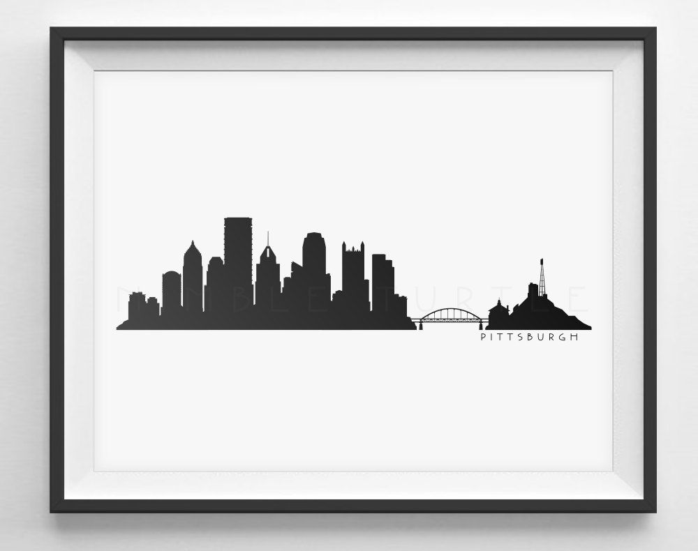 1000x790 Pittsburgh Skyline Silhouette