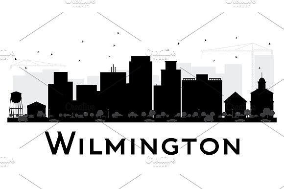 580x386 Wilmington City skyline silhouette Skyline silhouette and City