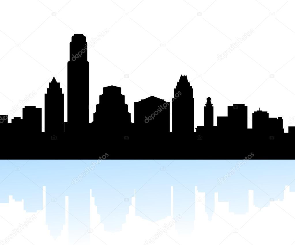 1023x852 Cityscape Clipart Austin Skyline