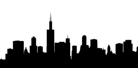 450x222 Cityscape Clipart Black And White