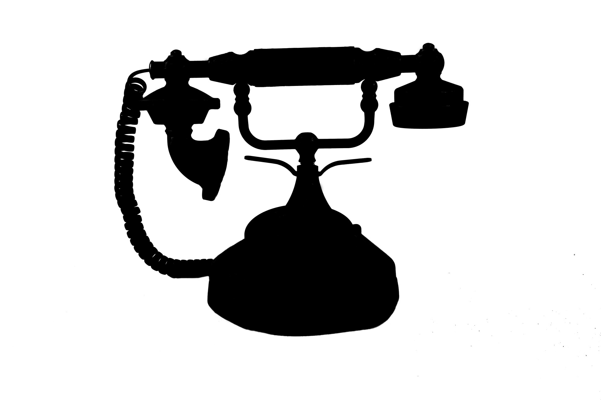 1920x1280 Silhouette Of Antique Telephone Free Stock Photo